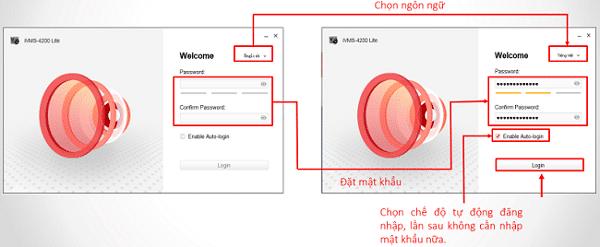 đăng nhập phần mềm iVMS 4200