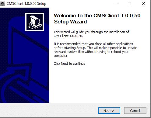 cài đặt phần mềm cms client