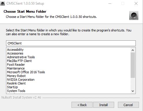 cài đặt cms client pc