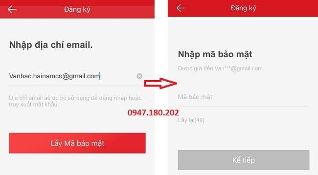 cách đăng ký Hik Connect bằng Email