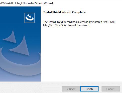 InstallShield Wizard for iVMS-4200 Lite