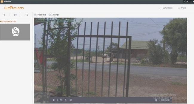xem camera ebitcam tren may tinh
